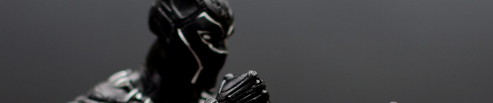 The Black Panther. A superhero with superpowers.